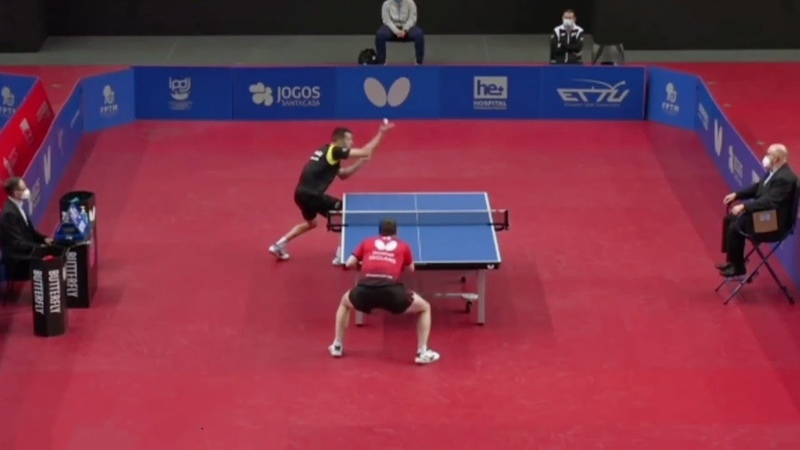 Alvaro Robles (ESP) vs Paul Drinkhall (GBR)   European Olympic Qualification 2021 Highlights (14)