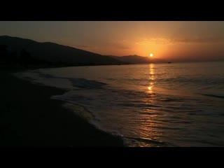 Восход солнца со звуками волн наа пляже в турции.турция.net <видео и прямые трансляции из турции.