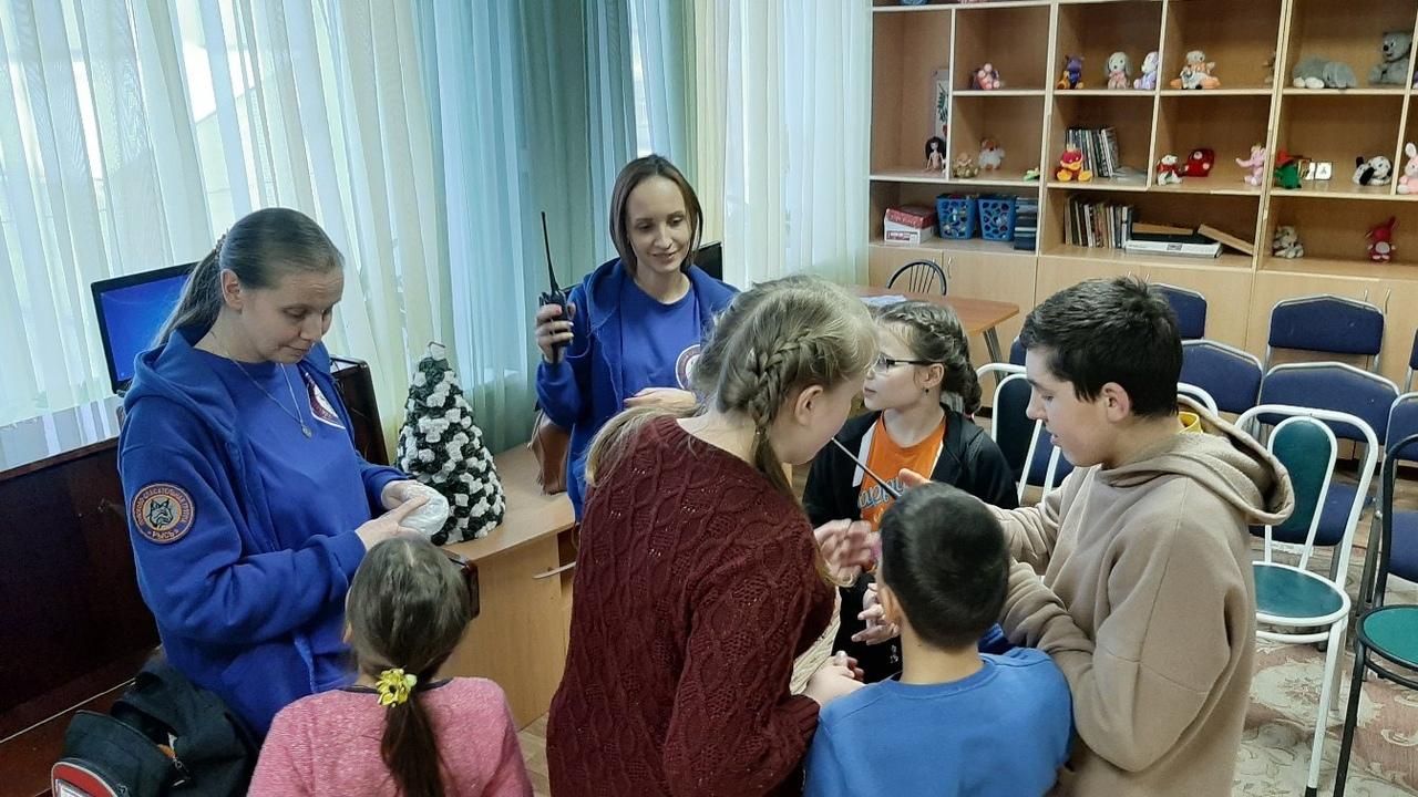Школа детской безопасности в Краснобаковском детском доме.