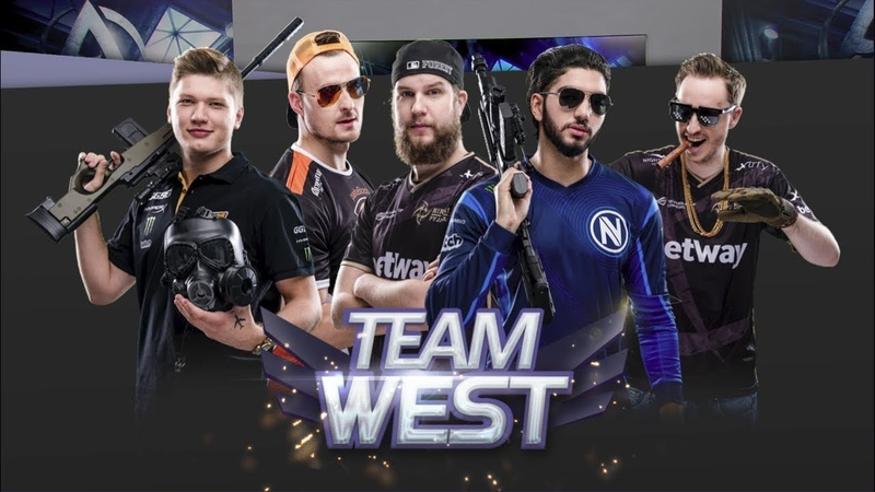 TEAM WEST VS EAST SHOWMATCH FT S1MPLE SCREAM PASHA GET RIGHT AND F0REST DUST 2