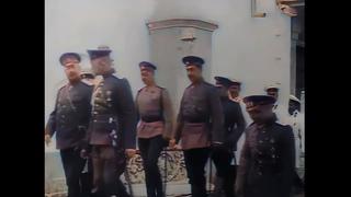 Николай II и царская семья в Евпатории  Крым  1916 г  Кинохроника в цвете