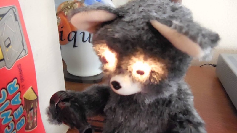 ALPS Mid Century Battery Operated Cola Drinking Picnic Bear