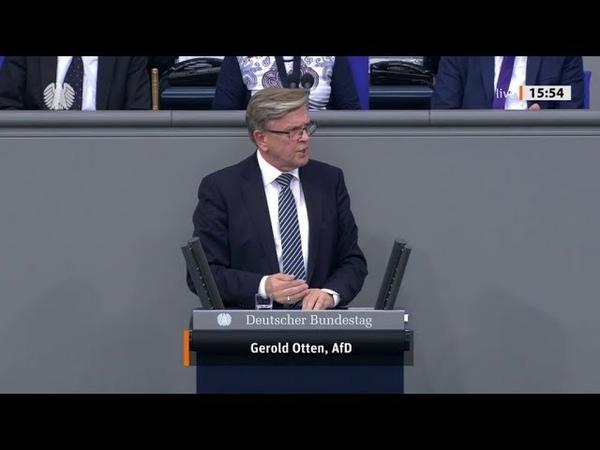 Bundestag. Die Türkei stellt sich außerhalb des Völkerrechtes. Gerold Otten, AfD 24.10.2019