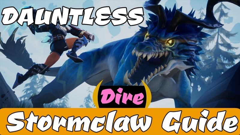 DAUNTLESS - Tempestborne Stormclaw Guide ~\/~ How to DEFEAT and BREAK PARTS!