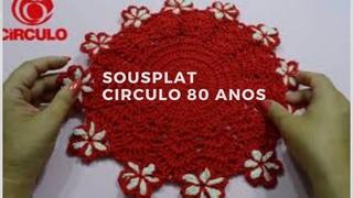 Sousplat vermelho Círculo - Silvana Todeschini Artsil