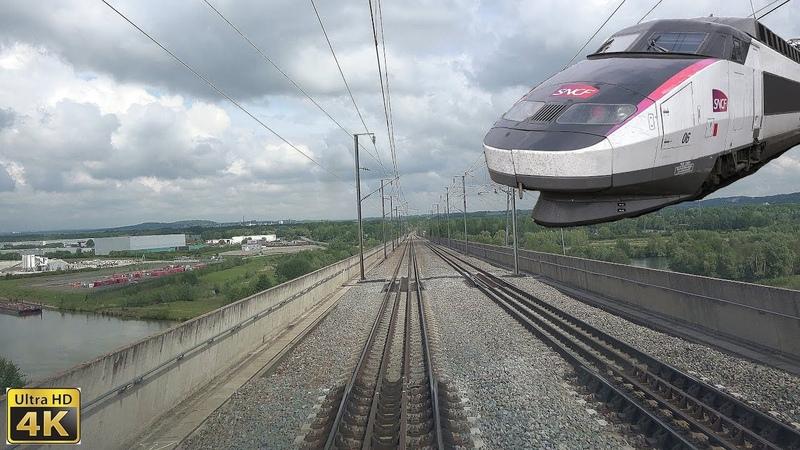 4K TGV Cabride Paris-Nord à Valenciennes en TGV Sud-Est