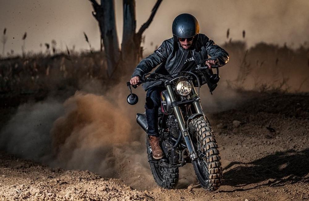 Oscura Motorcycles: скрэмблер Honda XR600 Хуана Барреда