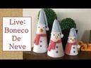 Live: Boneco de neve no cone