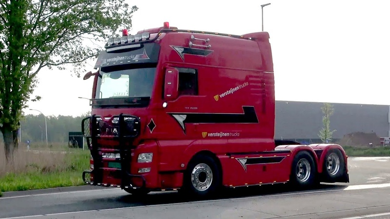 BIGtruck Trophy 2019 with MAN Longline Scania V8 and DAF open pipes