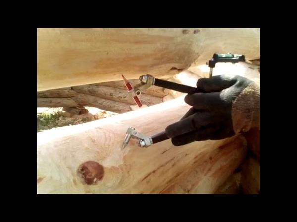 Работа плотницкой чертой скрайбером Universus Использование поворотных ножек для разметки
