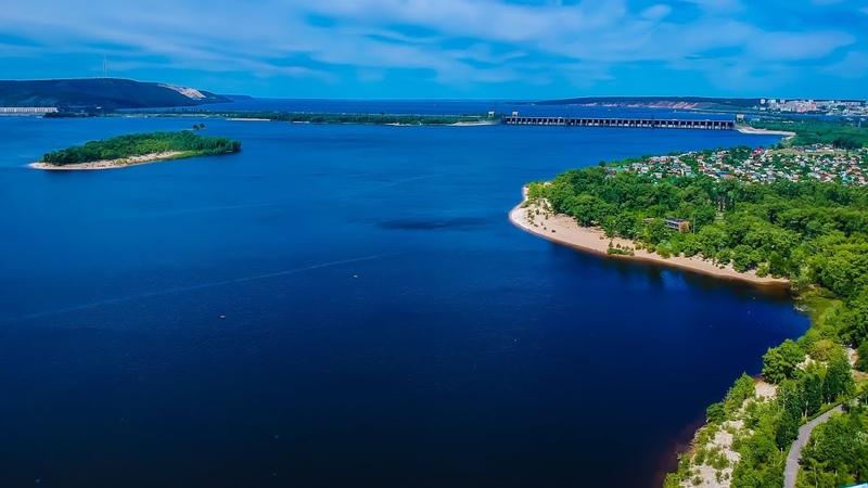 Волга с высоты , окунь, спиннинг, отводной .Красивый вид на полуостров Копылово и Жигулевскую ГЭС.