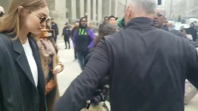 January 13: Gigi Hadid leaves Manhattan court