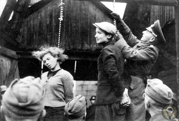 Первая публичная казнь на оккупированных советских территориях