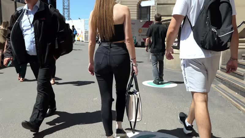 Candid Black Jeans Hottie