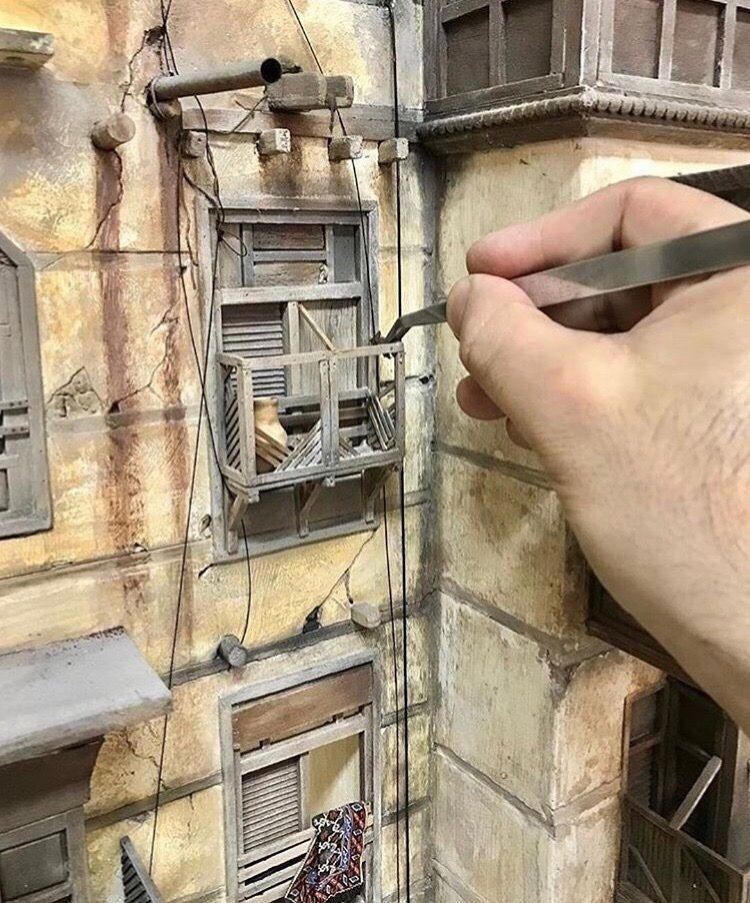 Макет улицы средневекового города