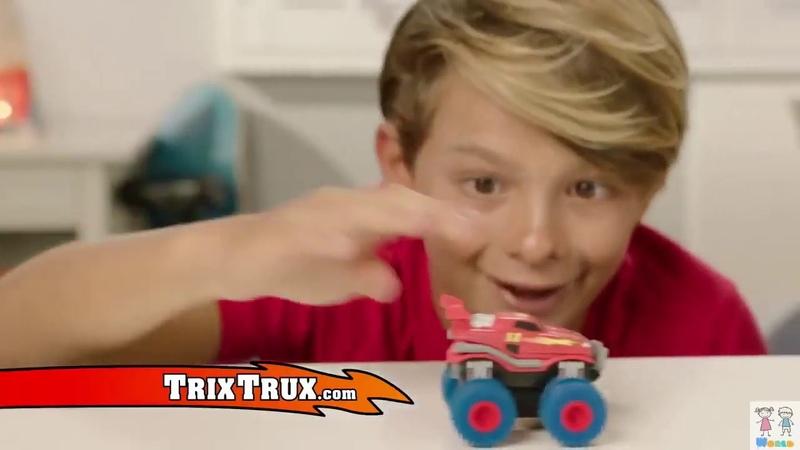 Акробатические машинки монстр-траки, Трикс Карс, trix cars. Канатный трек. Хороший подарок ребенку!