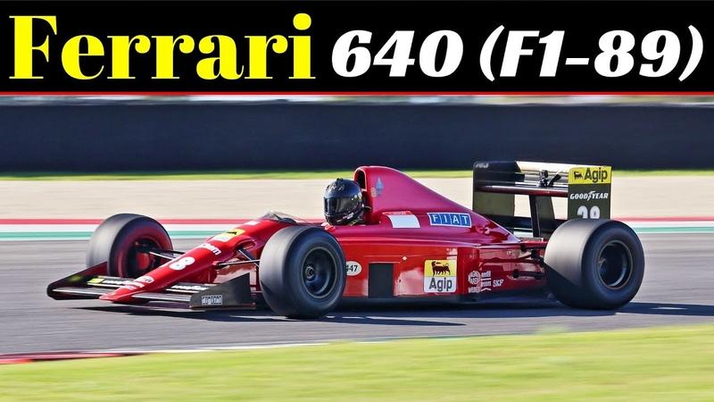 1989 Ferrari 640 F1 89 Formula One ex Gerhard Berger 660Hp 3 5 litre V12 Engine Sound Mugello