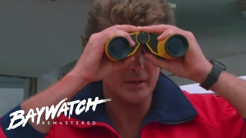 MITCH DIVES IN TO SAVE A MAN Having A Seizure Stephanie Helps Out Baywatch Remastered
