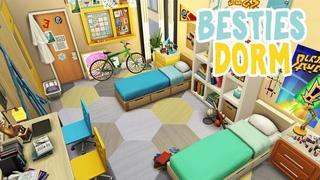 Besties Dorm Room || The Sims 4 Discover University: Speed Build