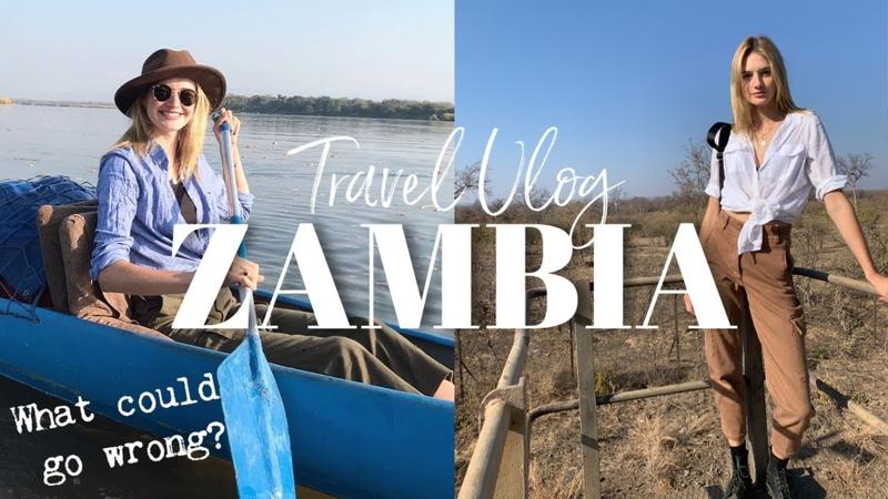 Africa Vlog - Zambia | Elephants In The Bathroom, Canoe Safari, My Sickest Days | Sanne Vloet
