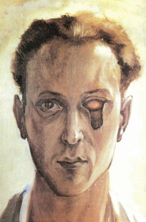 """Виктор Браунер, """"Автопортрет с вырванным глазом""""."""