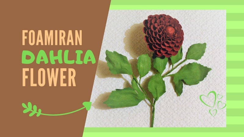 Foamiran Dahlia Flower tutorial | Part 1 | Easy 3D Flower DIY Decoration