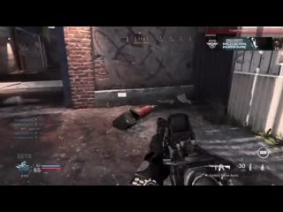 The enemies used a peculiar distraction method to kill me. modern warfare
