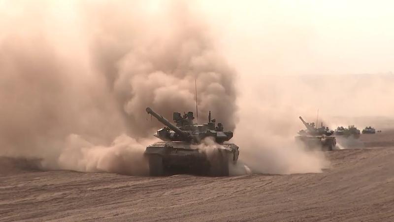 Основной эпизод СКШУ «Кавказ-2020» на полигоне Прудбой