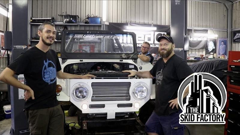 THE SKID FACTORY V12 твин-турбо в старый Toyota Land Cruiser 6 [BMIRussian]