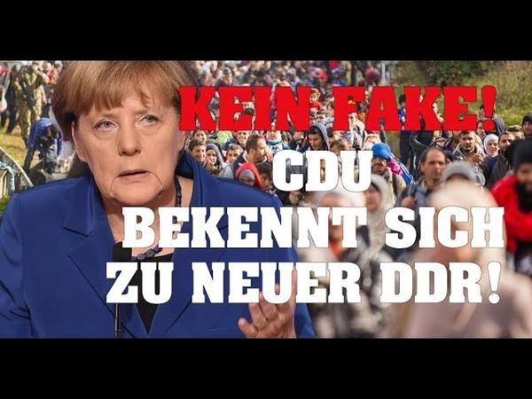 KEIN FAKE! CDU bekennt sich zu neuer DDR!