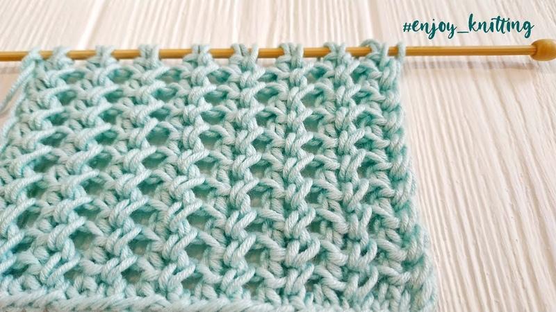 ШИКАРНЫЙ Узор спицами Ажурный Колосок How to knit Lace Spine stitch