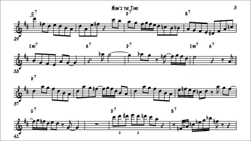 Charlie Parker Nows the time (no.1) Solo Transcription