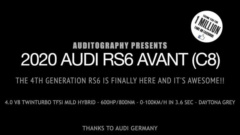 Audi RS6 C8 Avant V8 600 HP 800 NM Twin Turbo 2020 | Auditography