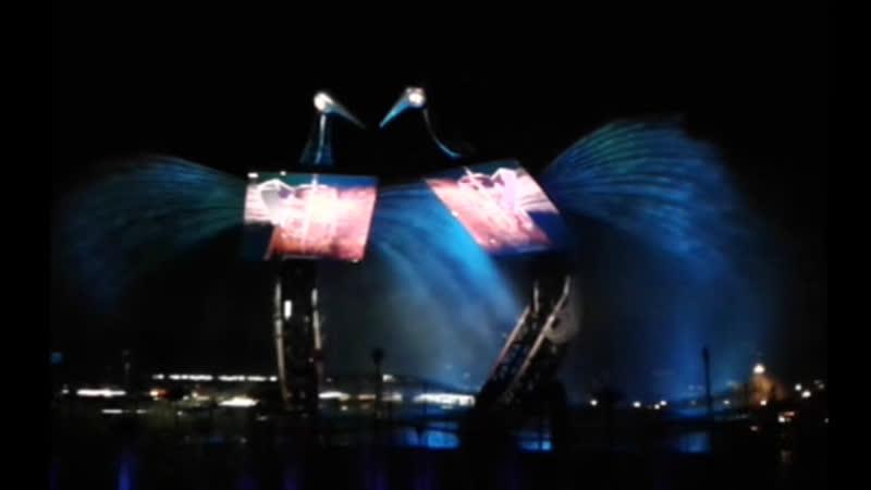 Сингапур Сентоза Шоу Танец Журавлей Crane Dance