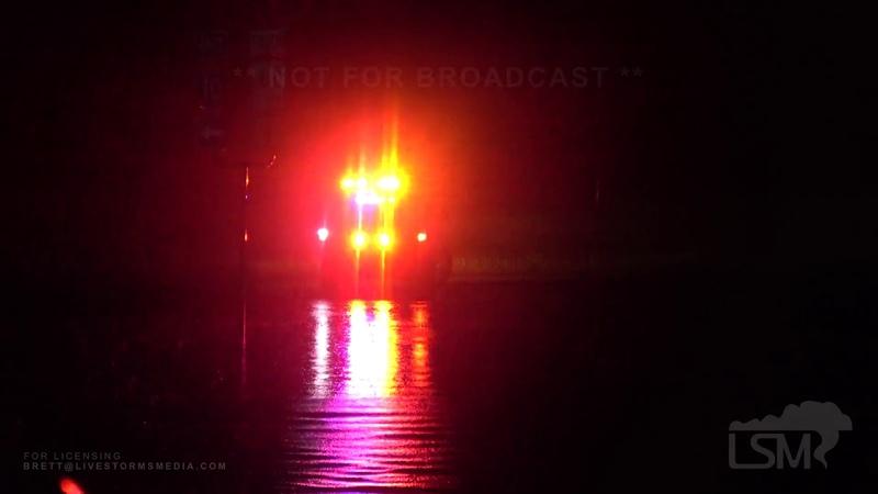 9 18 19 Beaumont Texas Blinding Rain on I 10 Holiday Inn Roof Lights Leaking Heavy Water