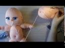 Утяжки головы куклы. Урок 3. Глазки.