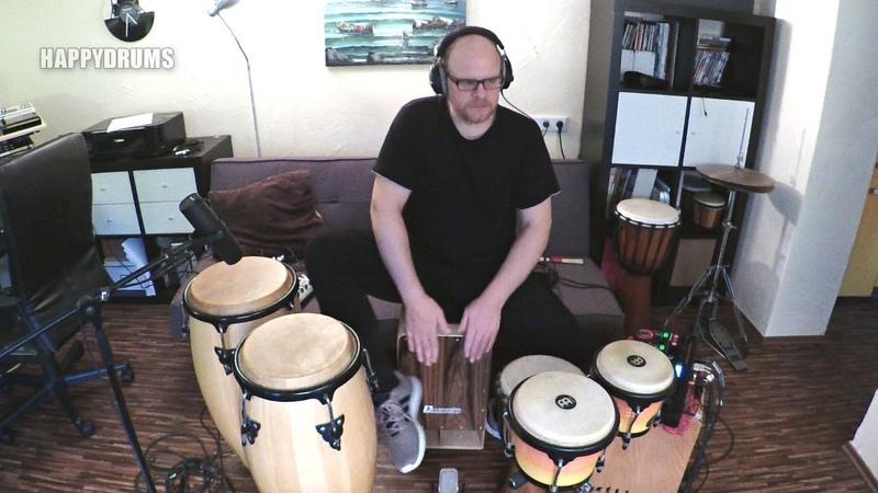 Cajon, Congas, Djembe... Recording Looper Session I'm a happy drummer
