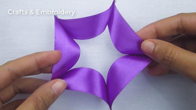 Hand Embroidery Easy Ribbon Flower Making Idea Ribbon Tricks