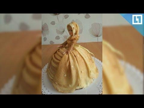 Платье из блинов