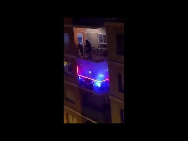 Guy blasting Caramelldansen out balcon u uwa uwa a FULL VER