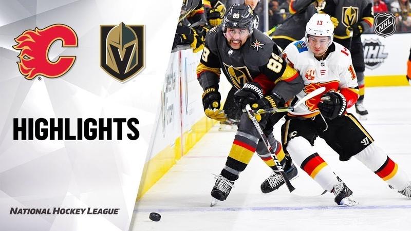 Вегас - Калгари / NHL Highlights | Flames @ Golden Knights 11/17/19