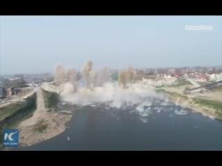 Взрыв моста в Китае