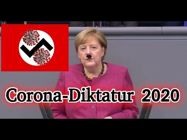 Merkel völlig Irre geworden - Corona-Diktatur ausgerufen ...