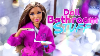 DIY - How to Make: Doll Bathroom Stuff | Electric Toothbrush | Tooth Paste Bath Tub & more