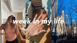 NYC Week In My Life | GRWM, city walks, new habits, & more workouts!