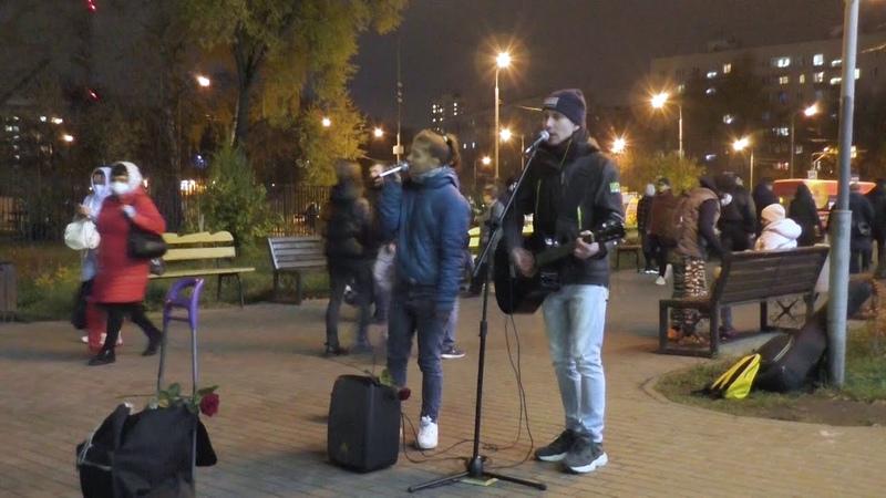 Кто угрожает уличным музыкантам с 33сек Рэкет у метро Планерная в Москве