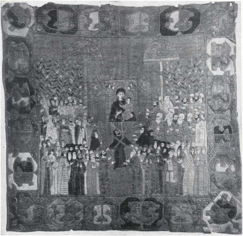 7. Пелена с изображением церковной процессии. 1498
