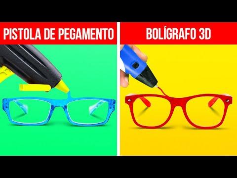 PISTOLA DE PEGAMENTO VS BOLÍGRAFO 3D 37 Ideas geniales para ti por ideas en 5 minutos CHICOS