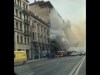 Прямо сейчас на Тверской улице горит дом. На каком...