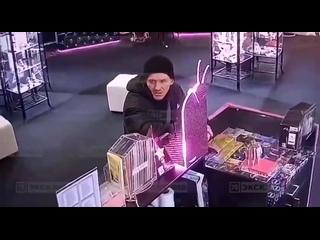 В Питере мужик попытался ограбить секс-шоп, но сотрудник магазина оказался проворнее и поймал грабителя, отобрав украденные дилд